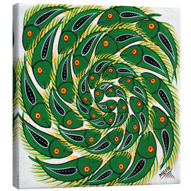 Canvas print  Green fish vertebrae - Mrope