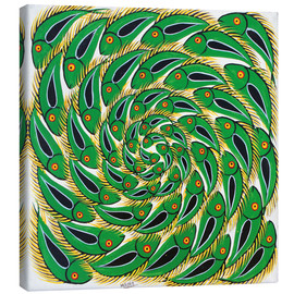 Canvas print  Green Swirl Fish - Mrope