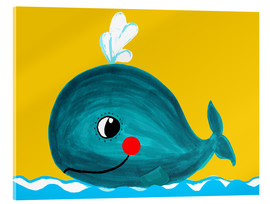 Acrylic glass  Frida, the friendly whale - Little Miss Arty