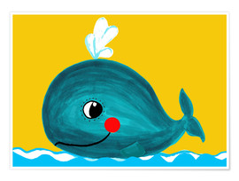Premium poster  Frida, the friendly whale - Little Miss Arty