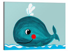 Alu-Dibond  Willow, the friendly whale - Little Miss Arty