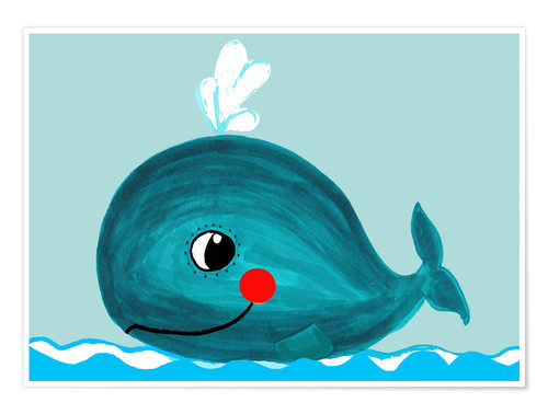 Premium poster Willow, the friendly whale