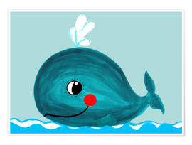 Poster  Willow, the friendly whale - Little Miss Arty