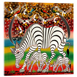 Acrylic glass  Zebra herd flock of birds - Chiwaya