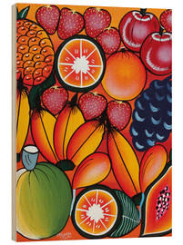 Wood print  Exotic fruit variation - Chilambo
