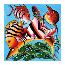 Premium poster  African fish species - Mrope