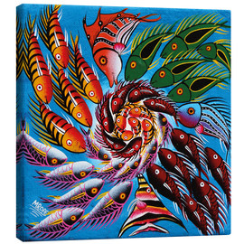 Canvas print  Colorful fish vertebrae - Mrope