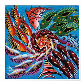 Premium poster  Colorful fish vertebrae - Mrope