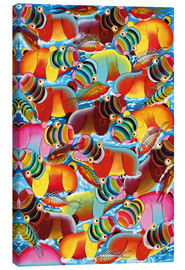 Canvas print  Colourful bathing - Mpochogo