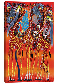 Canvas print  Giraffe with peacock - Maulana