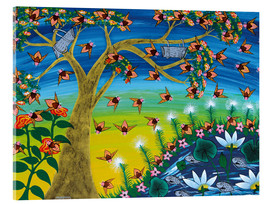 Acrylic print  Bees on a tree - Majidu