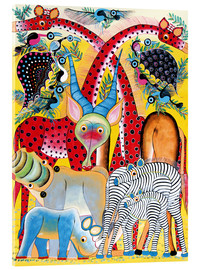 Acrylic print  Colorful wild animals of Africa - Lewis