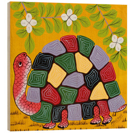 Wood print  Magnificent turtle - Maulana