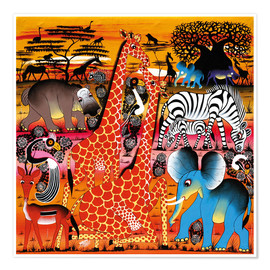 Premium poster  Africa at sunset - Mrope