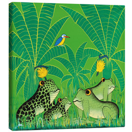 Canvas print  Frogs in the swamp - Issa
