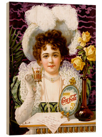 Wood print  Coca Cola - Advertising Collection