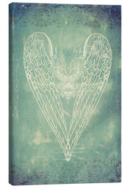 Canvas  Vintage Winged Heart - Sybille Sterk