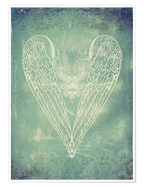 Premium poster Vintage Winged Heart