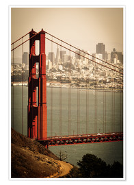 Premium poster  San Francisco Retro - Jan Schuler