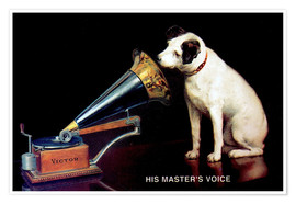 Premium poster  Victor Grammophon - His master's voice - Advertising Collection