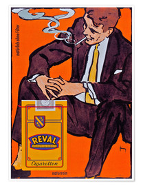 Premium poster  Reval Naturrein Cigaretten - Advertising Collection