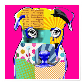 Premium poster Pop Art Bulldogge