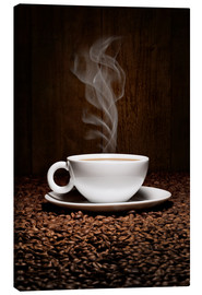 Canvas print  Coffee cup bean aroma - pixelliebe
