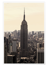 Poster  Empire State Building Vintage - Buellom
