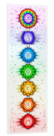 Foam board print  The Seven Chakras - Series V - Artwork II - Dirk Czarnota