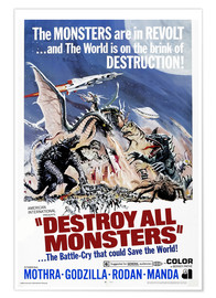 Premium poster  Destroy All Monsters - Entertainment Collection