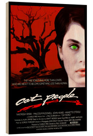 Wood print  Cat People - Entertainment Collection