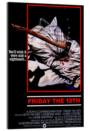 Acrylic print  Friday the 13th - Entertainment Collection