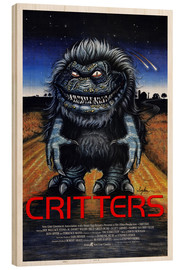 Wood print  Critters - Entertainment Collection