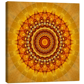 Canvas print  Mandala bright yellow - Christine Bässler