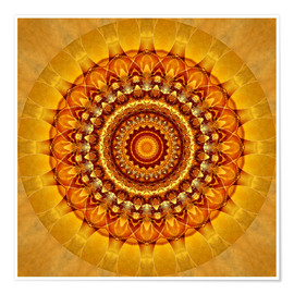 Premium poster Mandala bright yellow