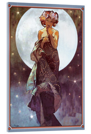 Acrylic print  The Moon, adaptation - Alfons Mucha