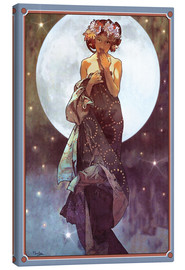 Canvas print  The full moon, adaptation - Alfons Mucha
