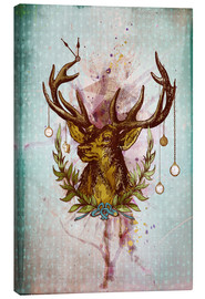 Canvas print  Oh Deer, is that the time? - Sybille Sterk
