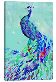 Canvas print  Peacock Collage - GreenNest
