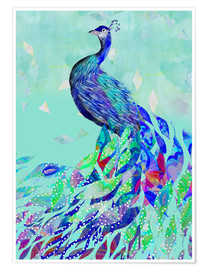 Premium poster  Peacock Collage - GreenNest