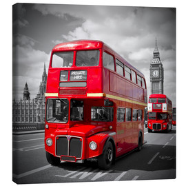 Canvas print  LONDON Red Buses - Melanie Viola