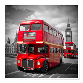 Premium poster LONDON Red Buses