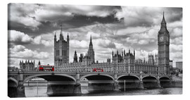 Canvas print  LONDON Westminster Bridge Panoramic - Melanie Viola