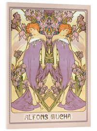 Acrylic glass  The Iris - Alfons Mucha