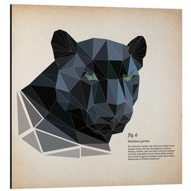 Aluminium print  fig6 polygon Panther square - Labelizer