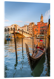 Acrylic print  Gondola at Rialto bridge - Matteo Colombo