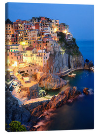 Canvas print  Manarola in the evening - Matteo Colombo