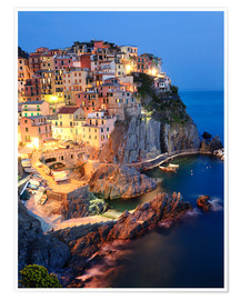 Premium poster  Manarola in the evening - Matteo Colombo