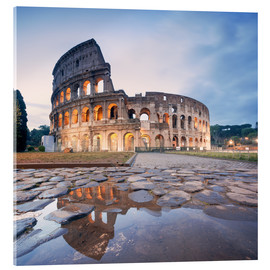 Acrylic print  Colosseum reflected into water - Matteo Colombo