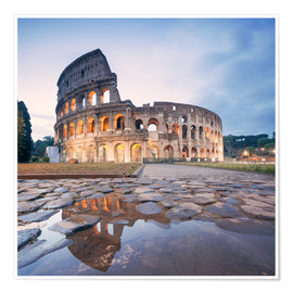 Premium poster  Colosseum reflected into water - Matteo Colombo
